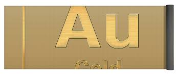 Periodic Table Of Elements - Gold - Au - Gold On Gold Yoga Mat for ...