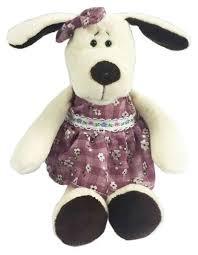 Купить Мягкая <b>игрушка ABtoys Собака в</b> платье 16 см по ...
