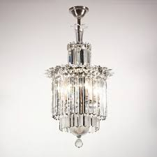 sold spectacular antique three tier crystal chandelier with spears early 1900s