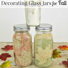 What To Put In Glass Jars For Decoration Decorating Glass Jars For Fall Organized 100 52
