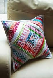 String Quilt Cushion. Think it's time to pick out some fabrics and ... & String Quilt Cushion. Think it's time to pick out some fabrics and hit the  thrift Adamdwight.com