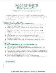 Electrical Apprentice Resume Samples Electrician Apprentice Resume Samples Qwikresume