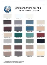Rain Gutter Supply Color Chart Best Picture Of Chart