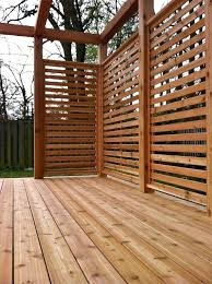 deck privacy screen cedar stained horizontal privacy screen outdoor privacy screen panels diy