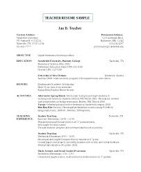 Resume Format For Teacher Post Best Resume Format For Teaching Jobs Template Position Sample Free