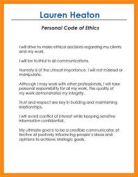 Personal Code Of Ethics Essay 9 10 Examples Of Personal Code Of Ethics Jadegardenwi Com