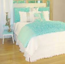 aqua and white bedding set bedroom white bed set