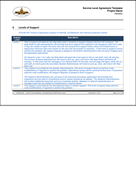 help desk service level agreement template sdlcforms service level agreement template