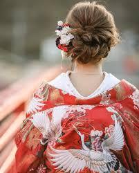 Hair Arrange お花とかんざし シニヨンスタイルに 華やかさを