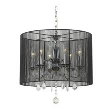full size of lighting dazzling crystal drum shade chandelier 16 6 light black pendant with and
