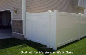 vinyl fence double gate. 5x6-Walk-Gate-with-White-Hardware.jpg, LIFETIME VINYL FENCING GATES Vinyl Fence Double Gate O