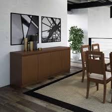 contemporary dining room sideboard solid wood material brown color