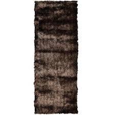 so silky chocolate 4 ft x 10 ft runner rug