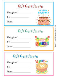 birthday certificate templates free printable with regard to happy blank gift template