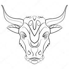 татуировка знак зодиака бык винтажные бык татуировки чернила эскиз