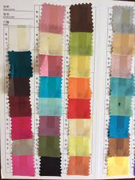 Color Chart For Clothes Us 94 92 10 Off Howmay Pure Silk Fabric Habotai 8m M 114cm 45