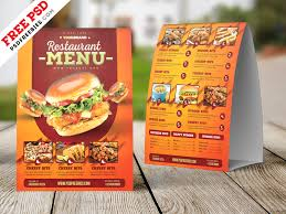 Design A Menu Free Food Menu Tent Card Design Free Psd By Psd Freebies On Dribbble