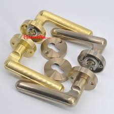 antique brass bronze gold italian zinc alloy inner door lever handle chinese manufacturer