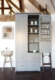 kitchen loft design ideas. cabinet color --- shaker pantry with slate shelf, painted in lead and on show our loft kitchen - cotes mill design ideas