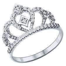 «Необычное <b>кольцо корона</b> из черненого серебра с цирконом и ...