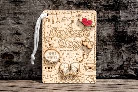 diy hand made wooden postcard manual collage father s day gift happy father s day pinpinwood cards postcards i