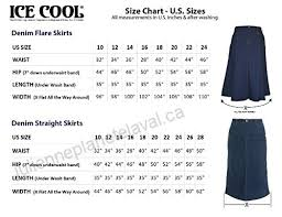 Length 35 Skirts Clothing Accessories Ice Cool Ladies