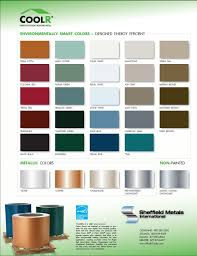 Steel Roof Color Chart Metal Roofs Metal Roof Color Chart