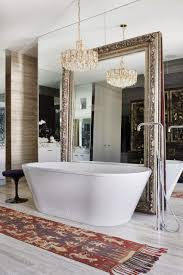 Bathroom Big Mirrors Big Bathroom Mirror Trend In Real Interiors