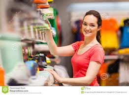 sportswear shop assistant royalty stock image image  sportswear shop assistant
