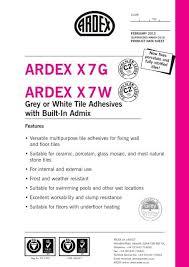 ardex x7g x7w new ardex x 7 ardex uk ltd