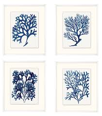 ask question about set of four indigo sea life framed wall art