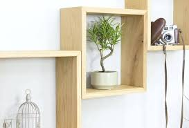 floating shelf set cube wall shelves set of three solid oak square shelves danya b fini