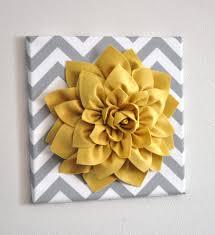 felt flowers on felt flower wall art diy with wall art light pink dahlia on gray and white chevron 12 x12 canvas