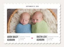 twin birth announcements photo cards twin birth announcements simply to impress
