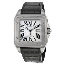 cartier santos 100 steel automatic large men s watch w20073x8