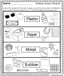 Reduce Reuse Recycle Worksheets Free Worksheets Library | Download ...