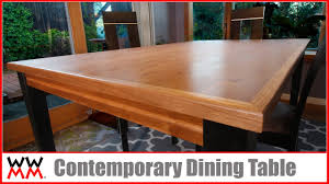 A dining bench set may seem a big jump from having traditional dining chair seating in your home. How To Make A Contemporary Dining Table Diy Furniture Youtube