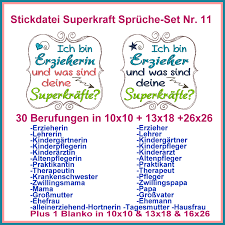 Stickdatei Superkraft Sprüche Set Nr 11 Rock Queen Embroidery