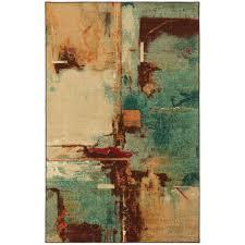mohawk home select strata aqua fusion 5 ft x 8 ft area rug