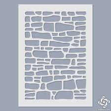 stencil stone wall