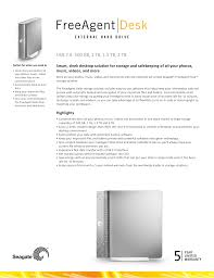 pdf for seagate storage freeagent desk 1 5tb manual