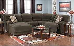 The Brick Living Room Furniture Devon 5 Piece Microsuede Sectional Brown The Brick