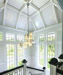 2 story foyer chandelier larger image installation lighting fixtures height how high to hang in