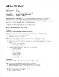 Medical Assistant Resume Objective Amazing Free Resume Objectives Together With Resume Objectives For Medical