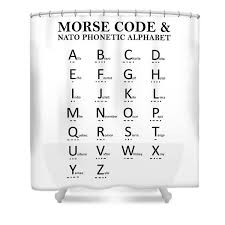 The 26 code words in the nato phonetic alphabet are assigned to the 26. Morse Code Shower Curtains Fine Art America