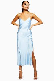 Light Blue Satin Cowl Neck Dress Satin Cowl Back Slip Dress Blue Satin Dress Summer Dress