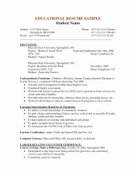 Sample Resume For Social Work Graduate School Professional Social
