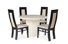 dining room chairs set of 4. Travertine Cream Marble Round Dining Tables For 4 Room Chairs Set Of