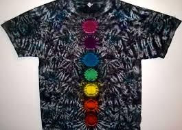 Custom Design Tie Dye T Shirts Tie Dye Chakra T Shirt Custom Made One Of A Kind Tie Dye