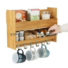 These coffee mug holders use a variety of woodworking techniques and can be adapted for anyone's skill level. China Bamboo Kitchen Storage Organizer Wood Wall Mount Coffee Mug Rack China Kitchen Rack And Storage Holder Price
